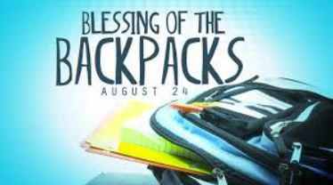 blessing of backpacks